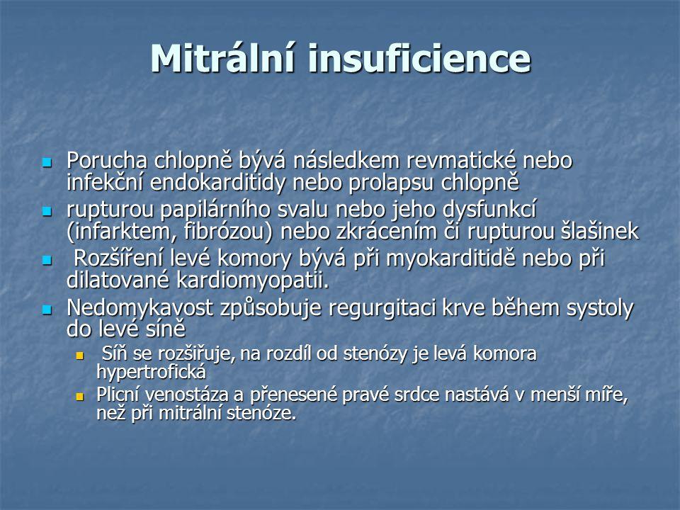 Mitrální insuficience