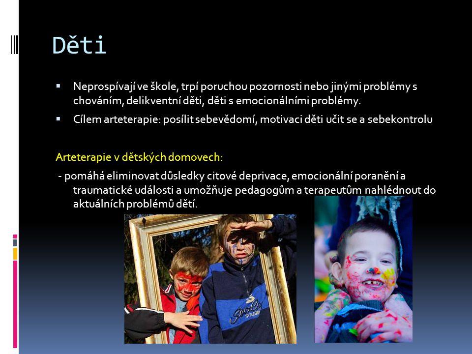 Děti Neprospívají ve škole, trpí poruchou pozornosti nebo jinými problémy s chováním, delikventní děti, děti s emocionálními problémy.
