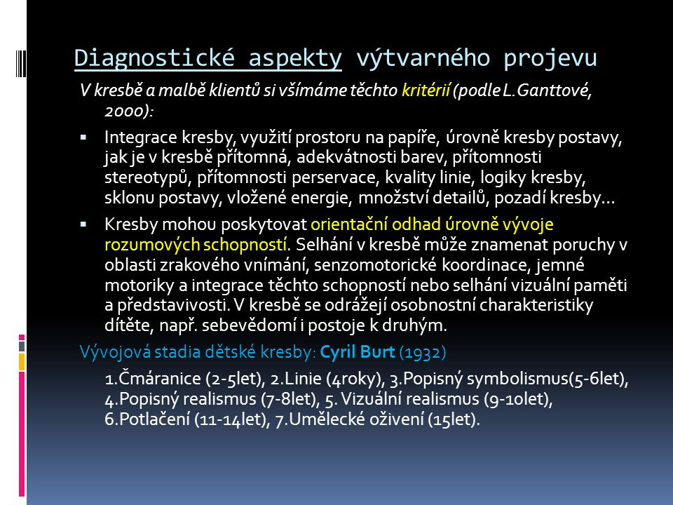Diagnostické aspekty výtvarného projevu