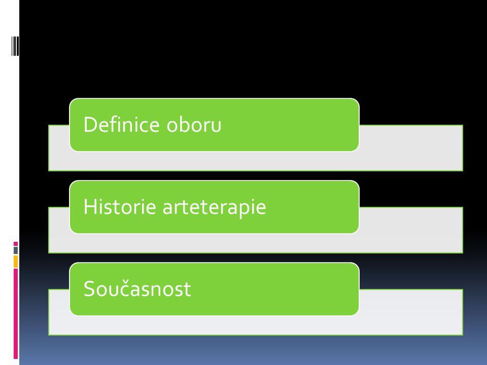 Definice oboru Historie arteterapie Současnost