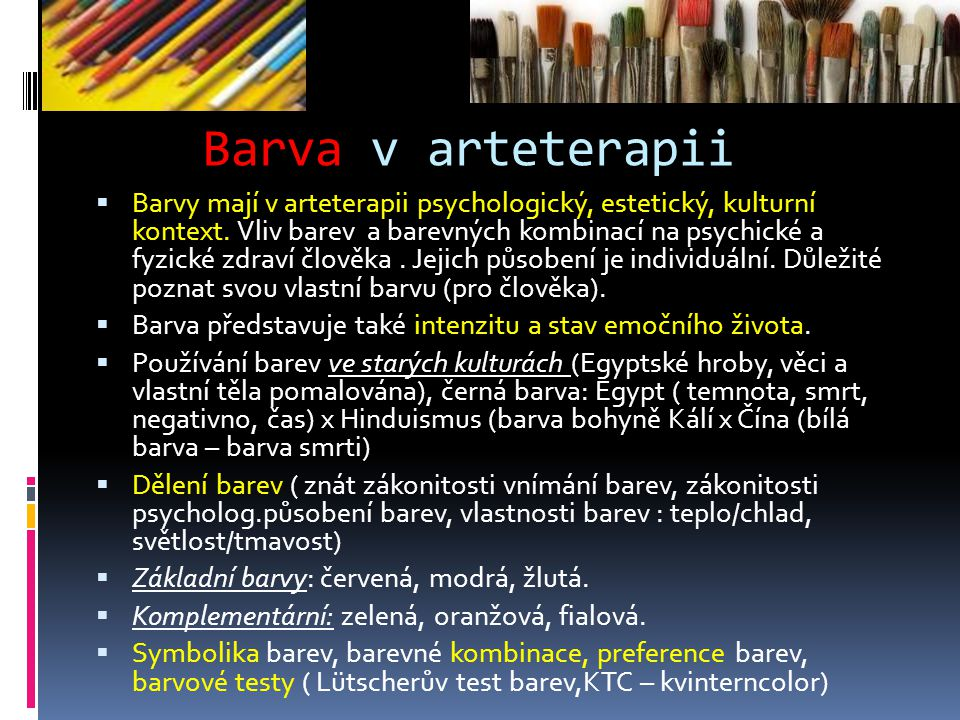 Barva v arteterapii