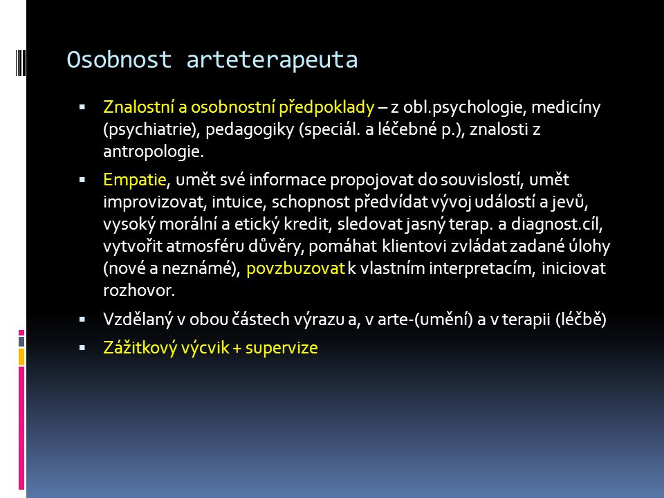 Osobnost arteterapeuta