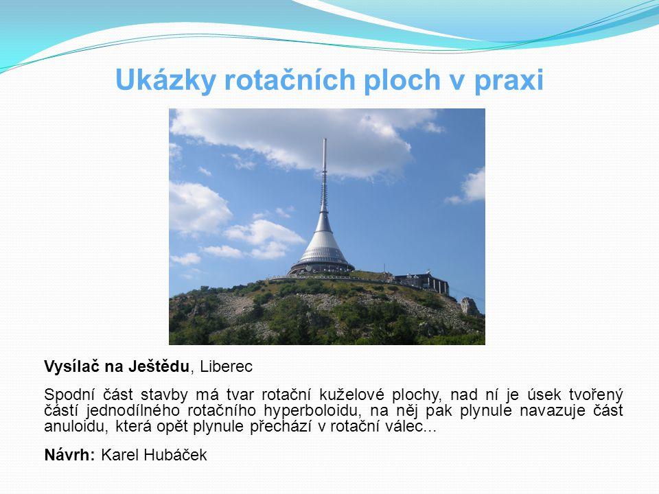 Ukázky rotačních ploch v praxi