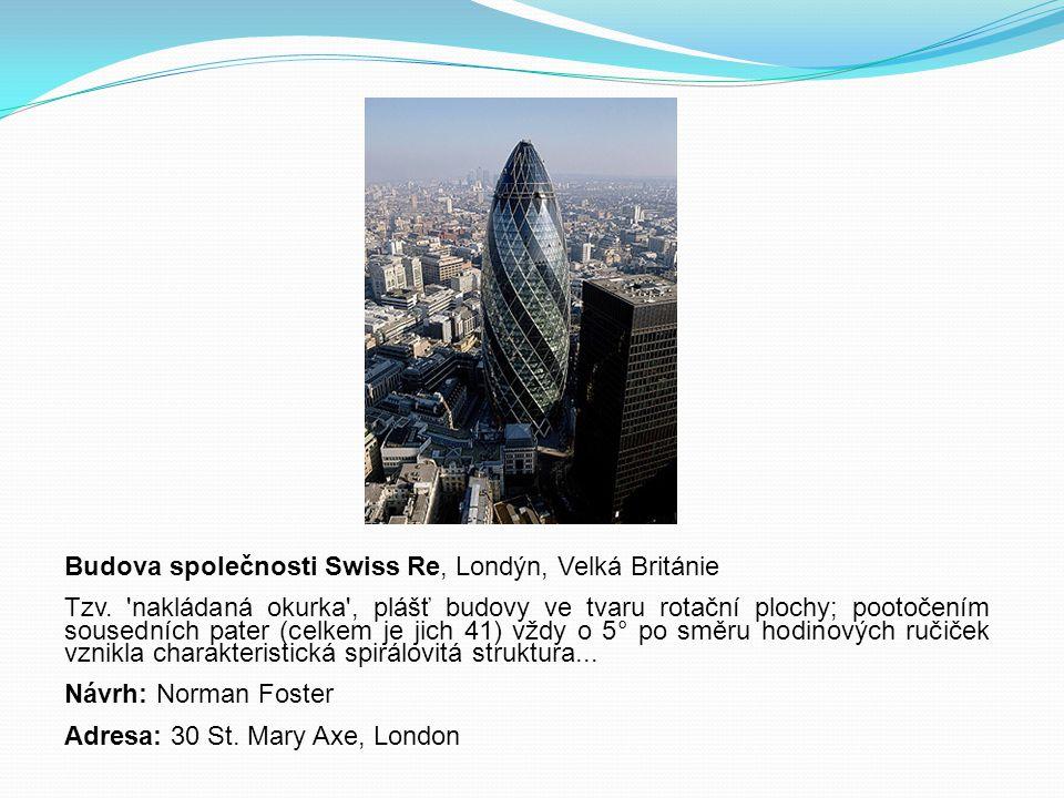 Budova společnosti Swiss Re, Londýn, Velká Británie