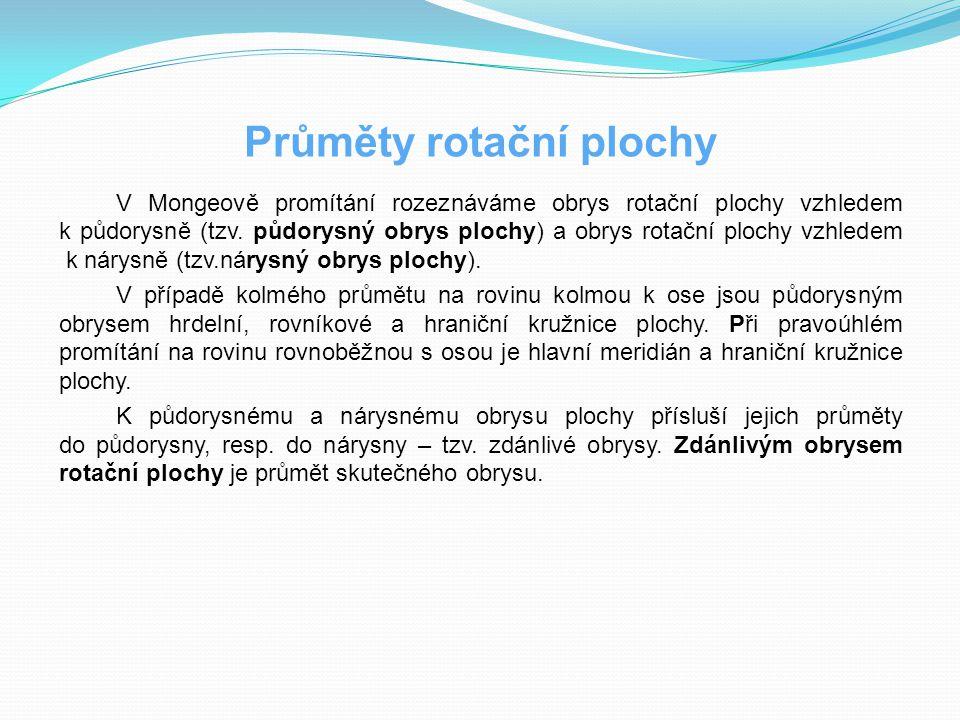 Průměty rotační plochy