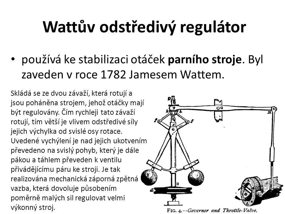 Wattův odstředivý regulátor