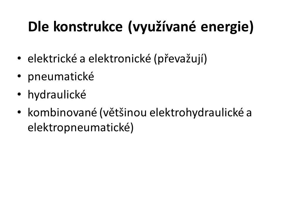 Dle konstrukce (využívané energie)