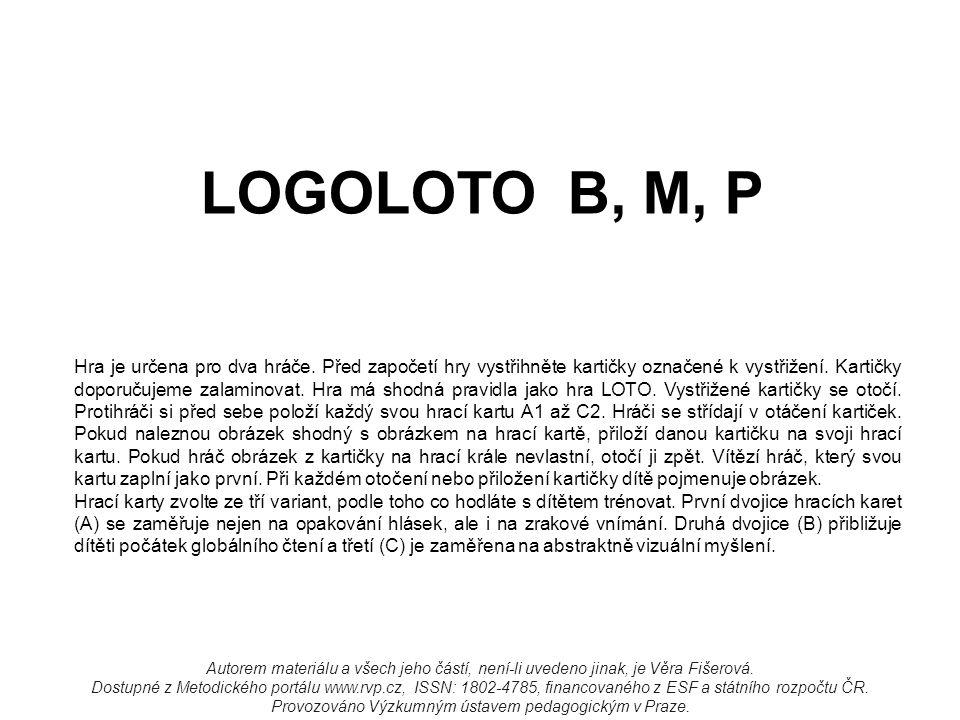 LOGOLOTO B, M, P