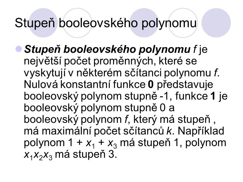 Stupeň booleovského polynomu
