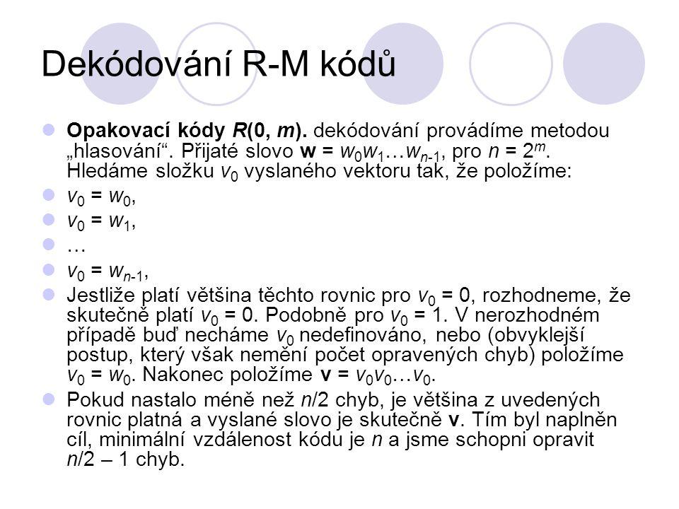 Dekódování R-M kódů