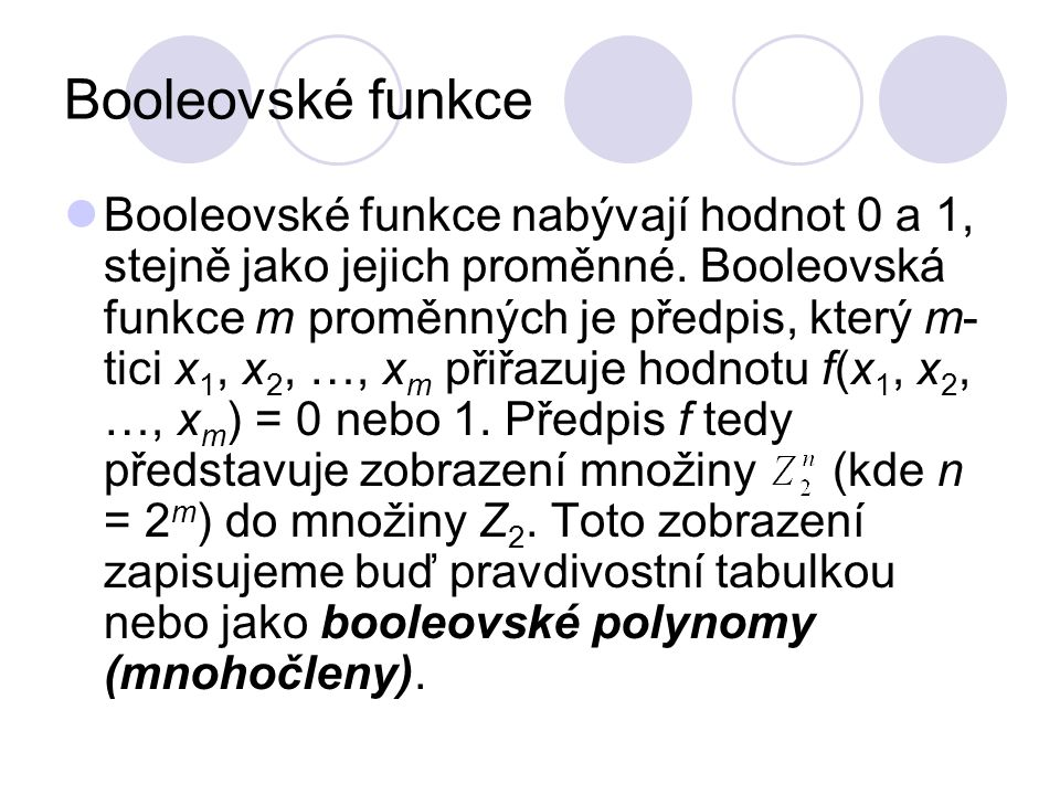 Booleovské funkce