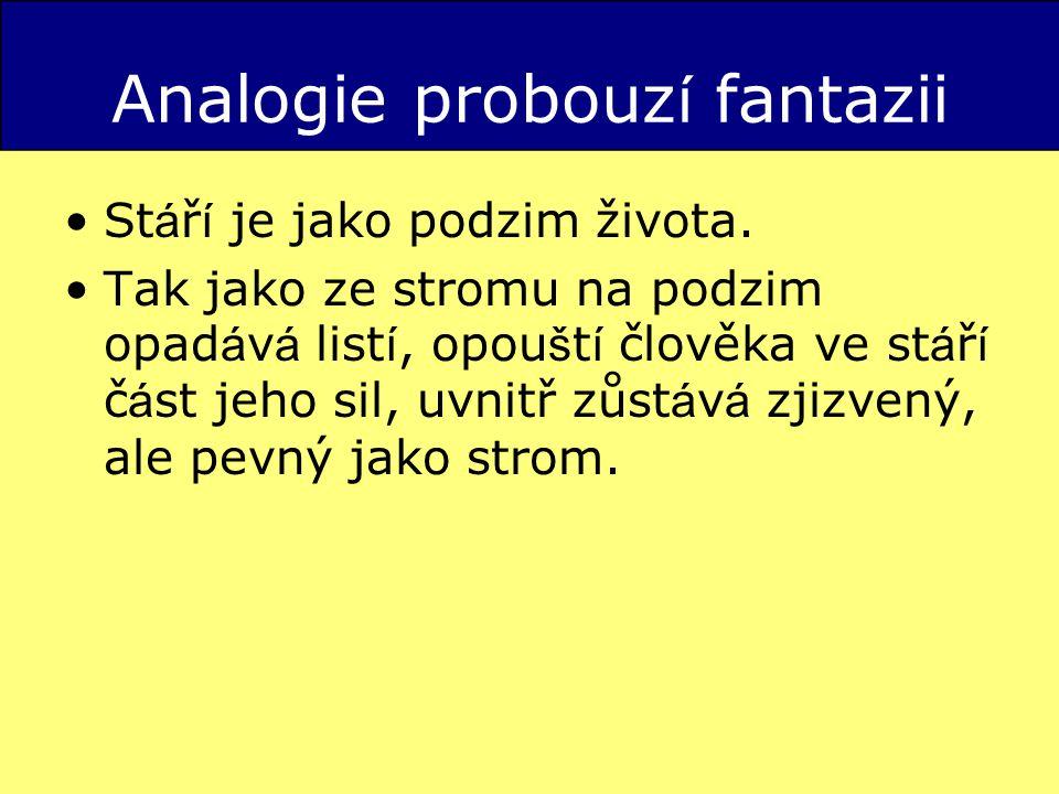 Analogie probouzí fantazii