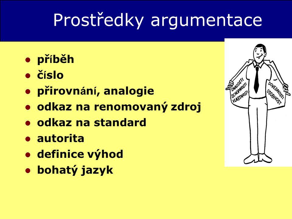 Prostředky argumentace