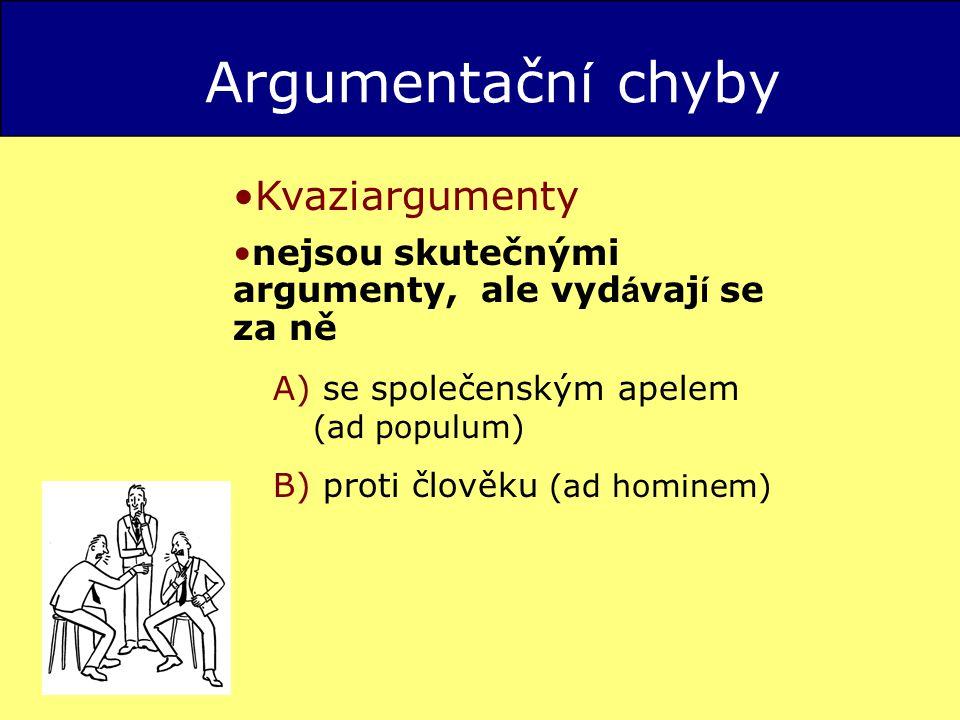 Argumentační chyby Kvaziargumenty