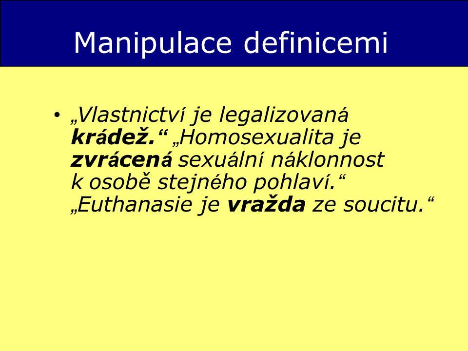 Manipulace definicemi