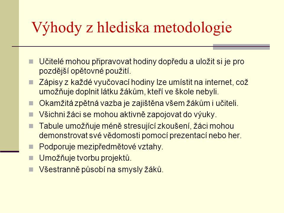 Výhody z hlediska metodologie