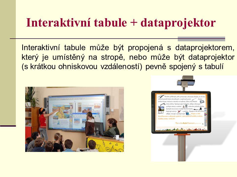 Interaktivní tabule + dataprojektor