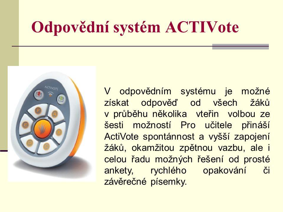 Odpovědní systém ACTIVote