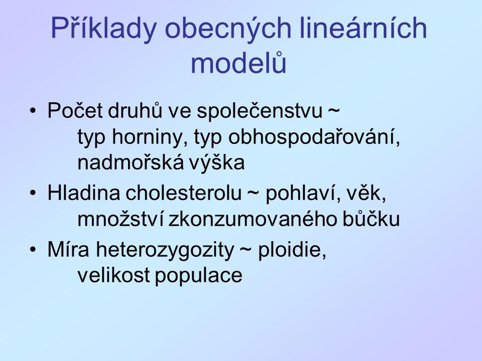 Příklady obecných lineárních modelů