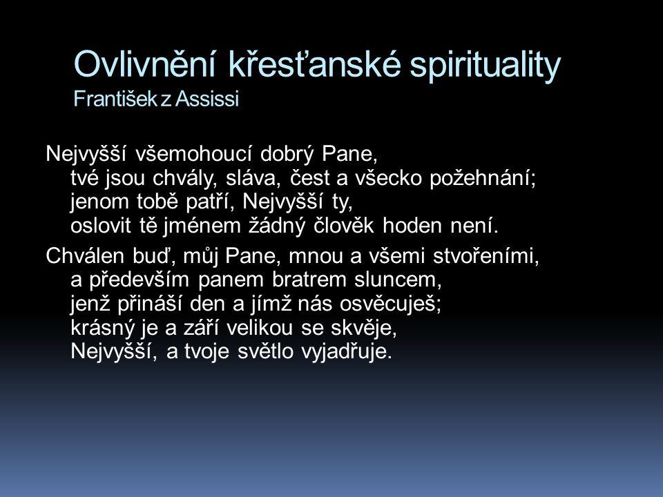 Ovlivnění křesťanské spirituality František z Assissi