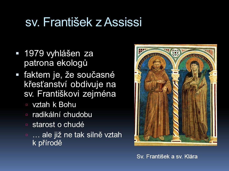 sv. František z Assissi 1979 vyhlášen za patrona ekologů