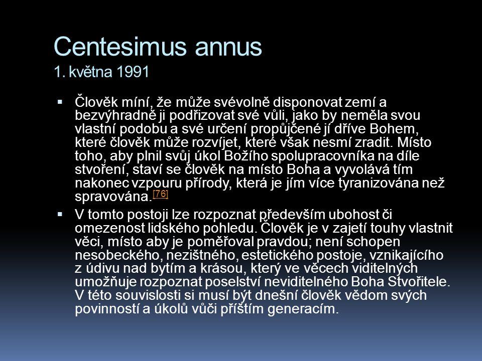 Centesimus annus 1. května 1991
