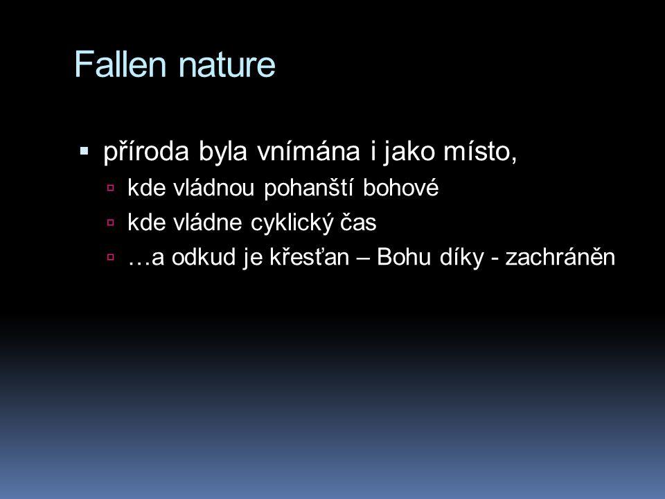 Fallen nature příroda byla vnímána i jako místo,