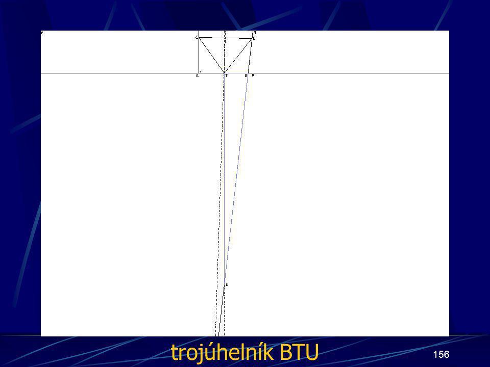 trojúhelník BTU