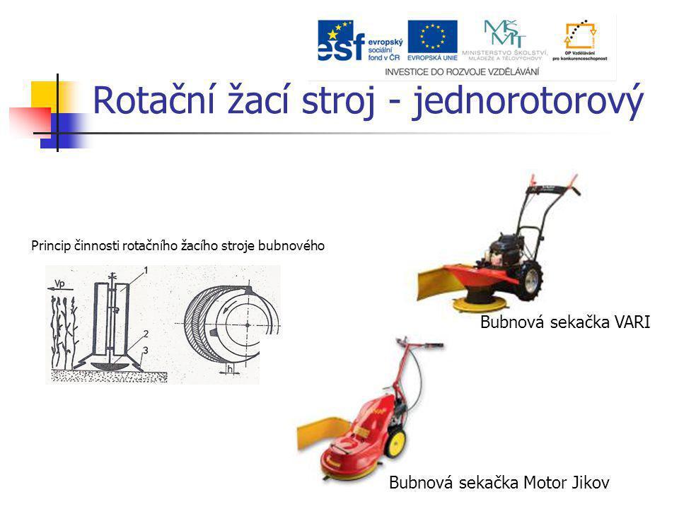 Rotační žací stroj - jednorotorový