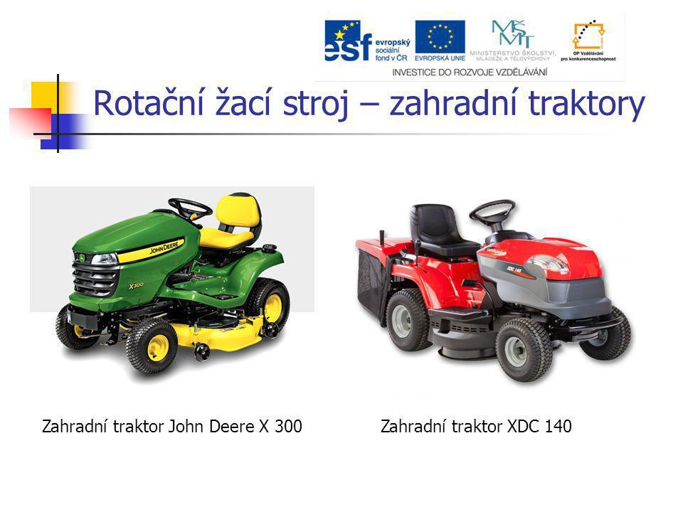 Rotační žací stroj – zahradní traktory