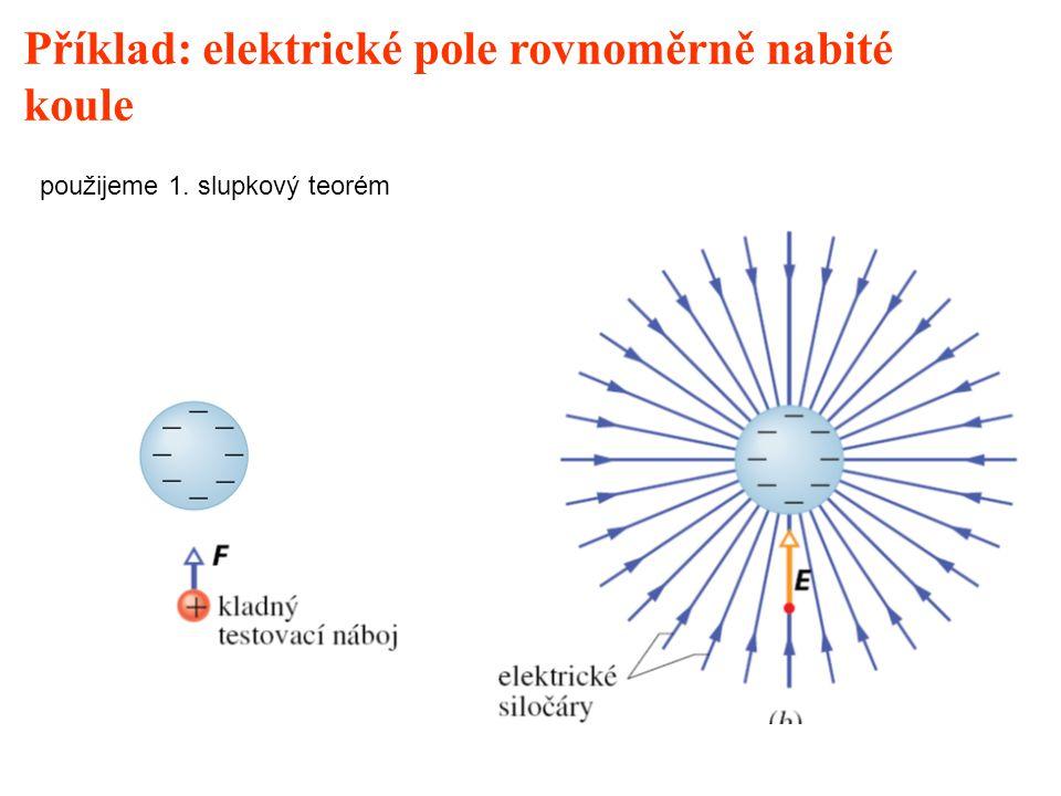 Příklad: elektrické pole rovnoměrně nabité koule
