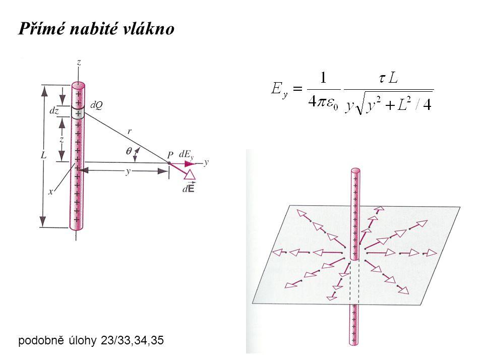 Přímé nabité vlákno dQ podobně úlohy 23/33,34,35