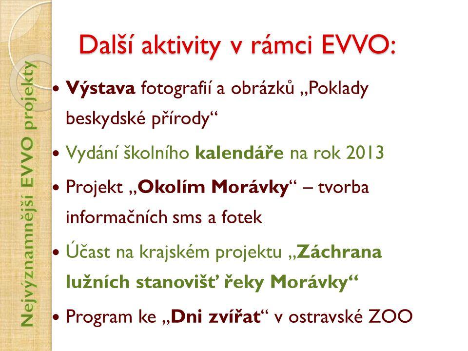 Další aktivity v rámci EVVO: