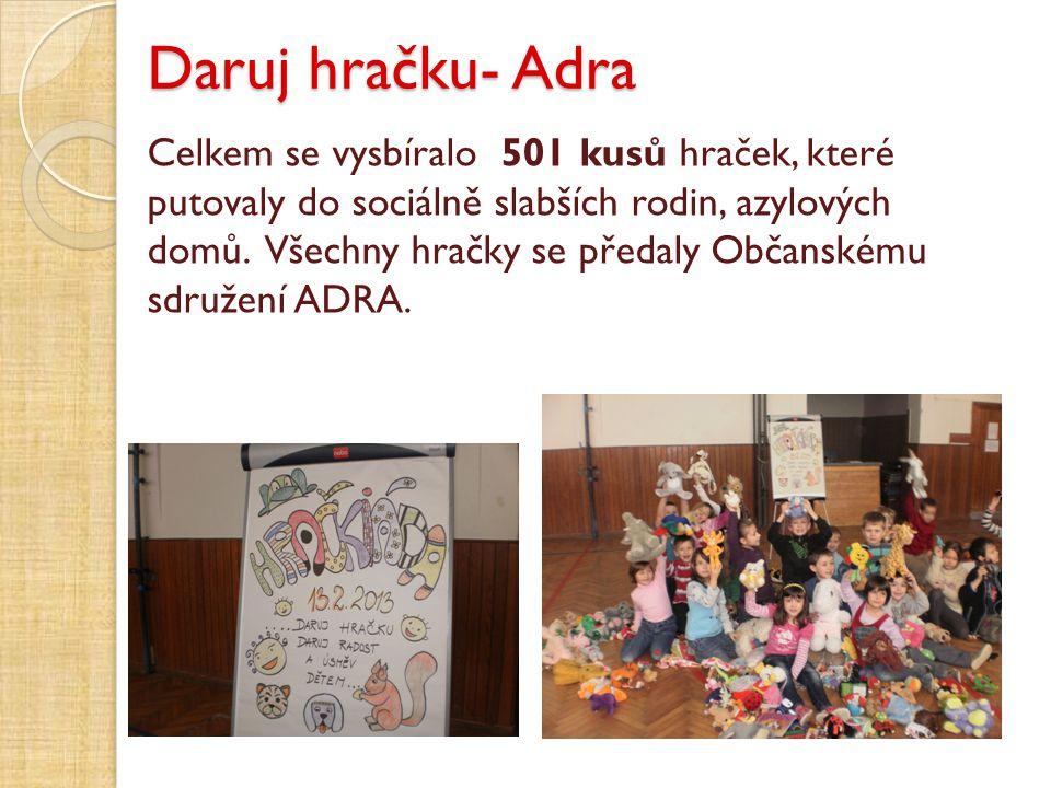 Daruj hračku- Adra