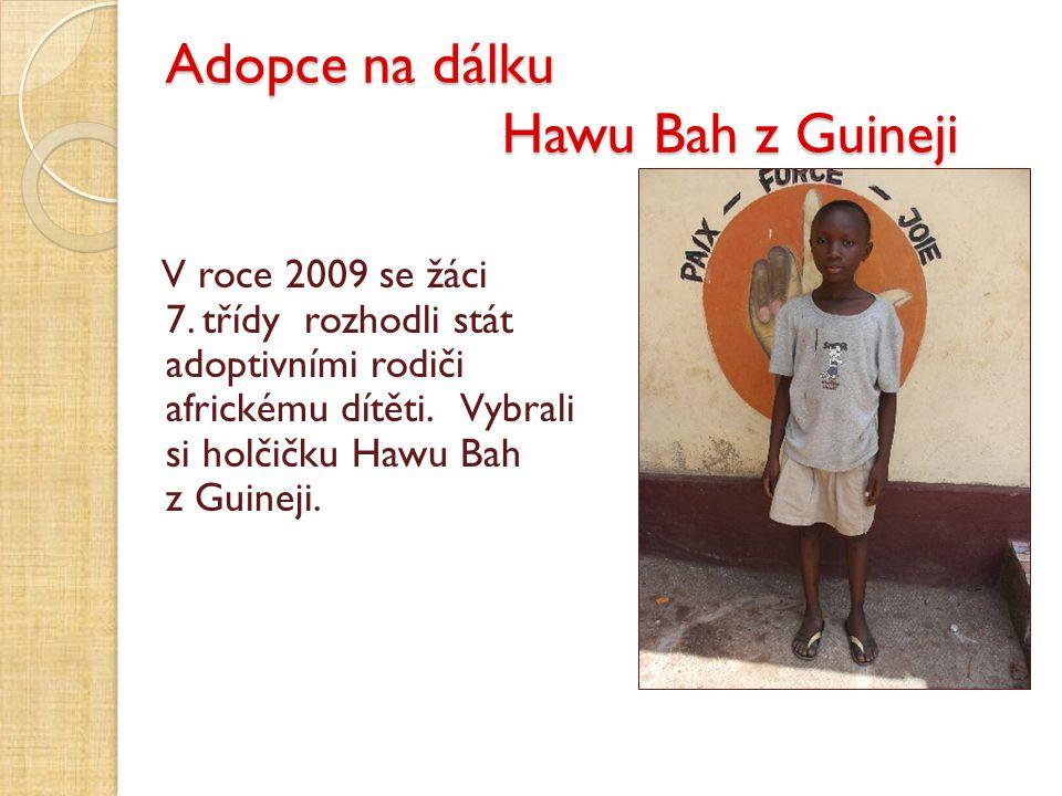 Adopce na dálku Hawu Bah z Guineji