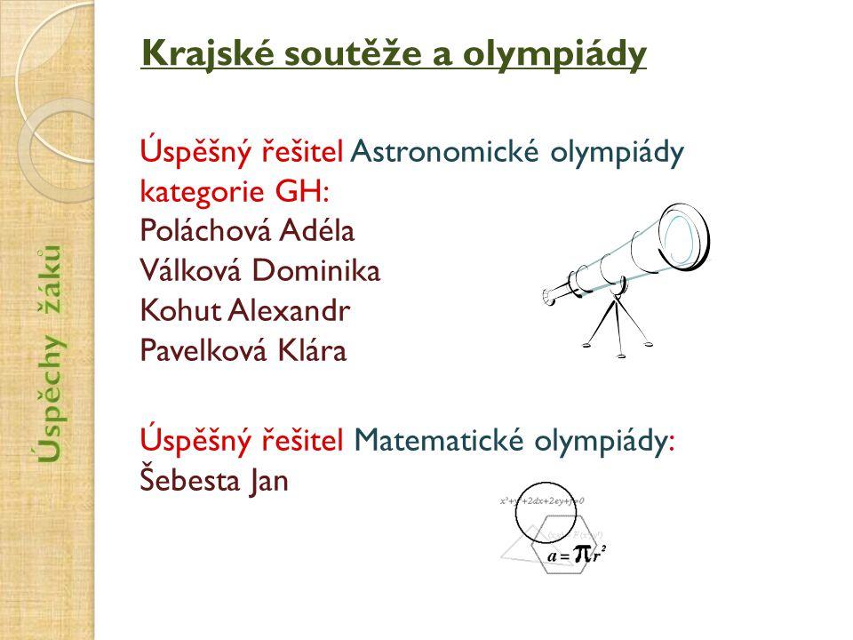 Krajské soutěže a olympiády