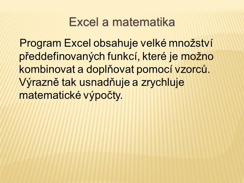 Excel a matematika