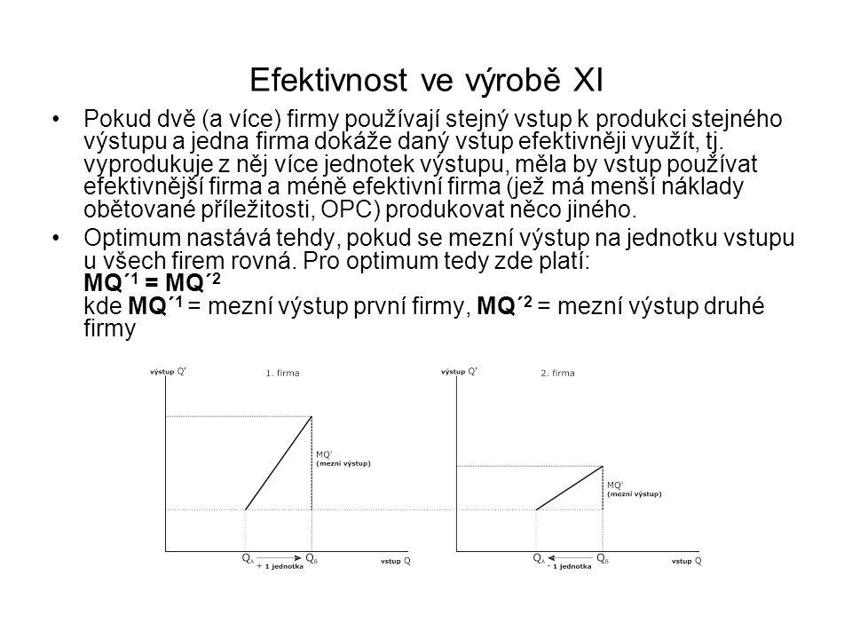 Efektivnost ve výrobě XI