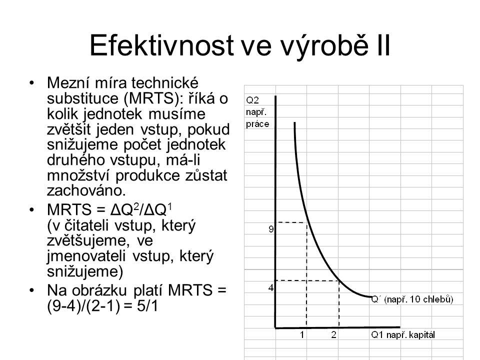 Efektivnost ve výrobě II