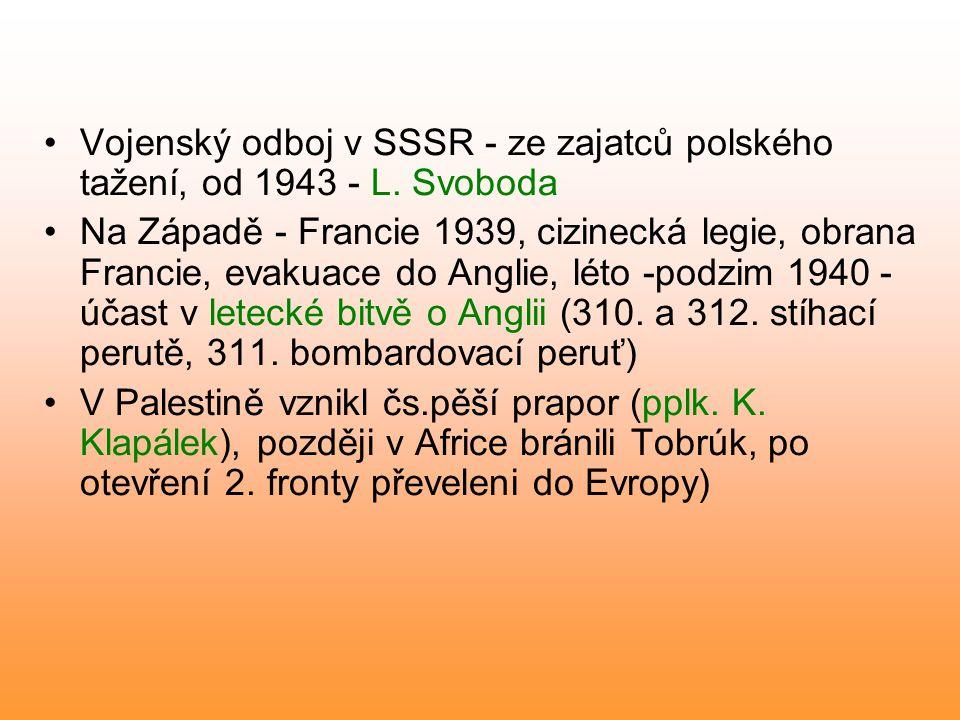 Vojenský odboj v SSSR - ze zajatců polského tažení, od 1943 - L