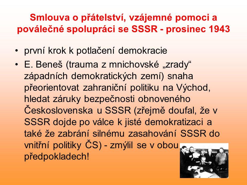 Smlouva o přátelství, vzájemné pomoci a poválečné spolupráci se SSSR - prosinec 1943
