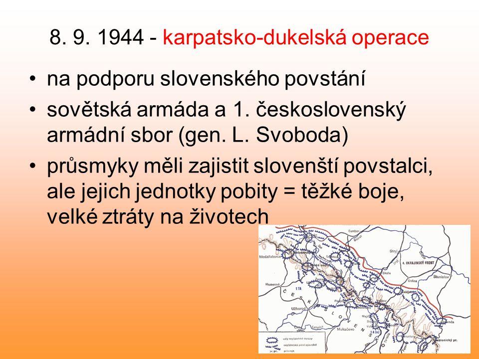 8. 9. 1944 - karpatsko-dukelská operace