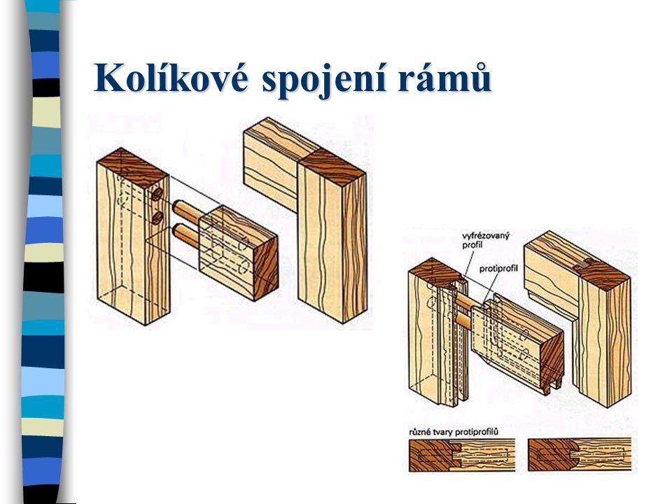 Kolíkové spojení rámů