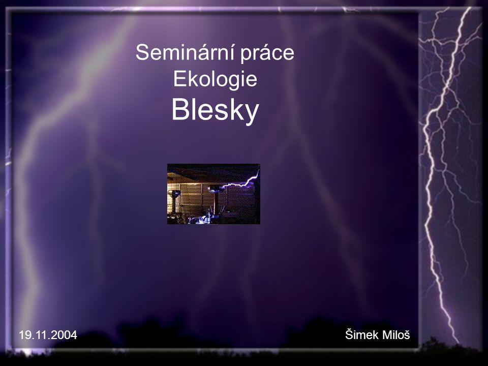 Seminární práce Ekologie Blesky