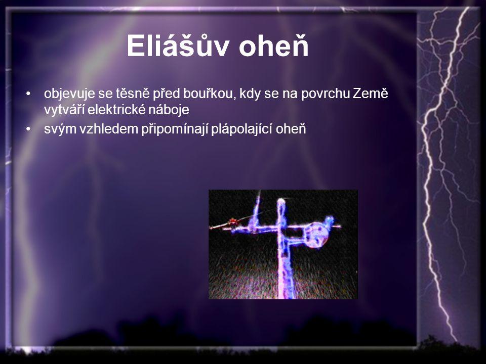 Eliášův oheň objevuje se těsně před bouřkou, kdy se na povrchu Země vytváří elektrické náboje.