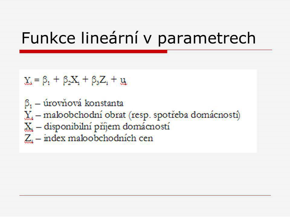 Funkce lineární v parametrech