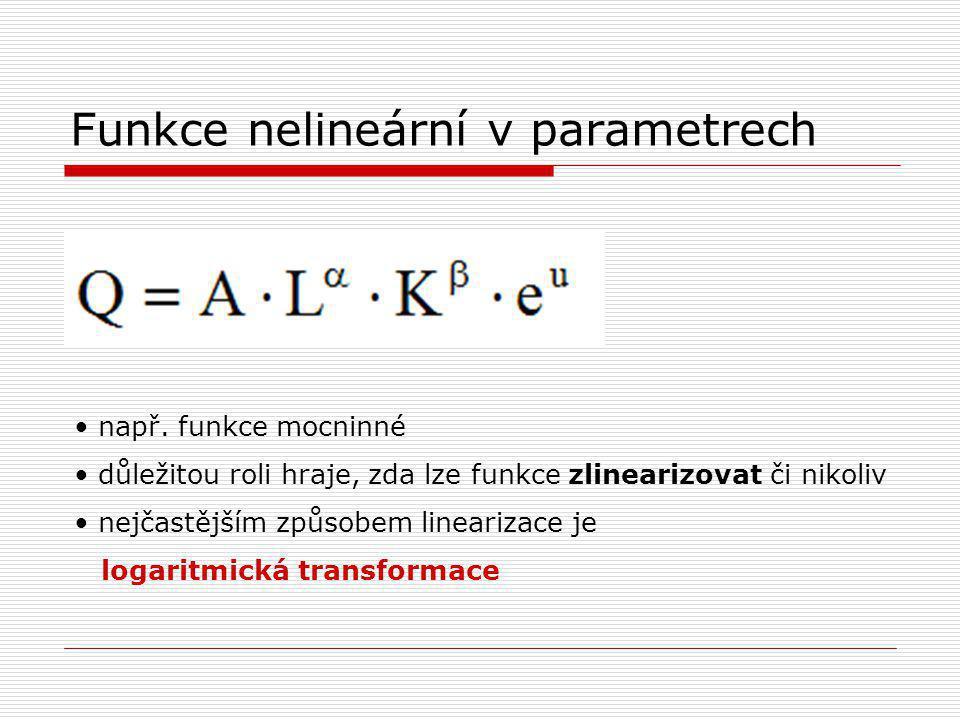 Funkce nelineární v parametrech