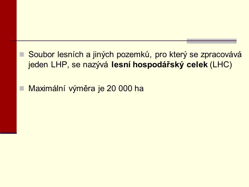 Soubor lesních a jiných pozemků, pro který se zpracovává jeden LHP, se nazývá lesní hospodářský celek (LHC)