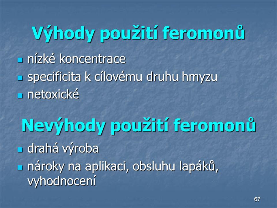 Výhody použití feromonů
