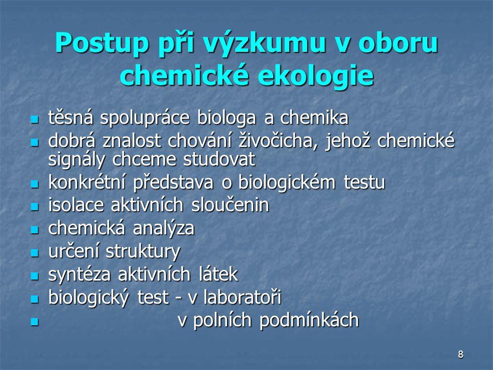 Postup při výzkumu v oboru chemické ekologie